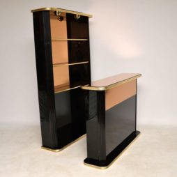 1970's Vintage Italian Lacquered Drinks Bar & Cocktail Cabinet