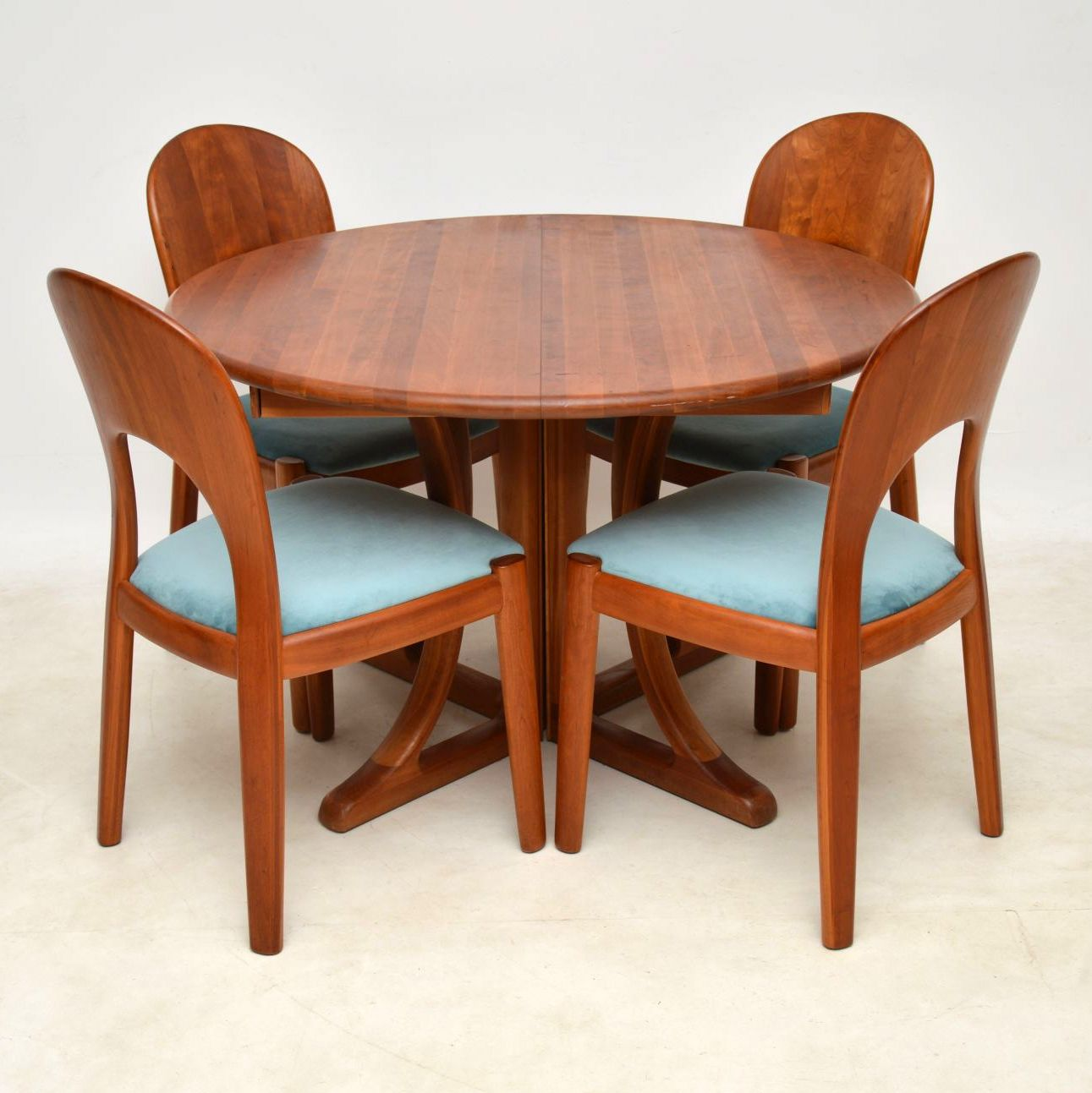 Teak Dining Table And Chairs: 1960's Danish Teak Dining Table & Chairs By Niels Koefoed