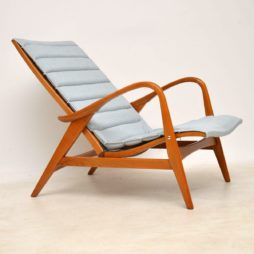 1960's Vintage Swedish Reclining Armchair