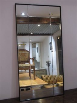 A 50's Swedish square panelled mirror