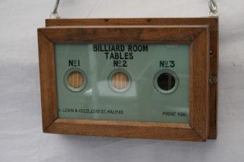 Antique Billiard Room Butlers Servants Bell Box