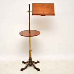 Antique Victorian Mahogany & Brass Reading Table
