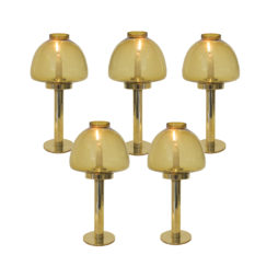 Set of 5 brass candle sticks by Hans Agnes Jakobsson