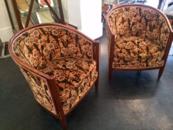 Pair of Art Deco tub chairs