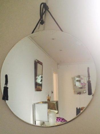 1920s Round Mirror