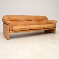 1960's Vintage Leather DS16 Sofa by De Sede