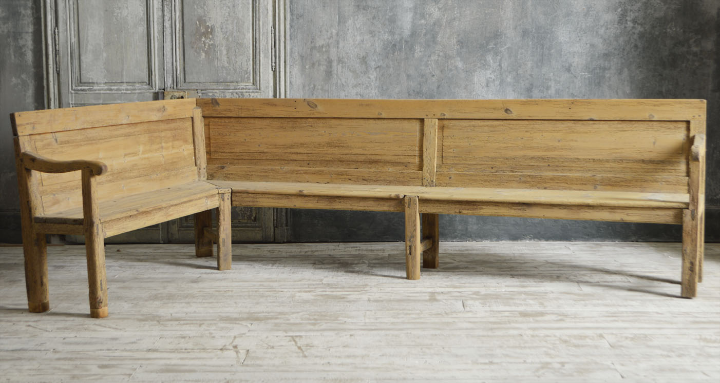19th century l shaped bench