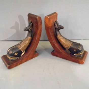 Pair of Dolphin Bookends