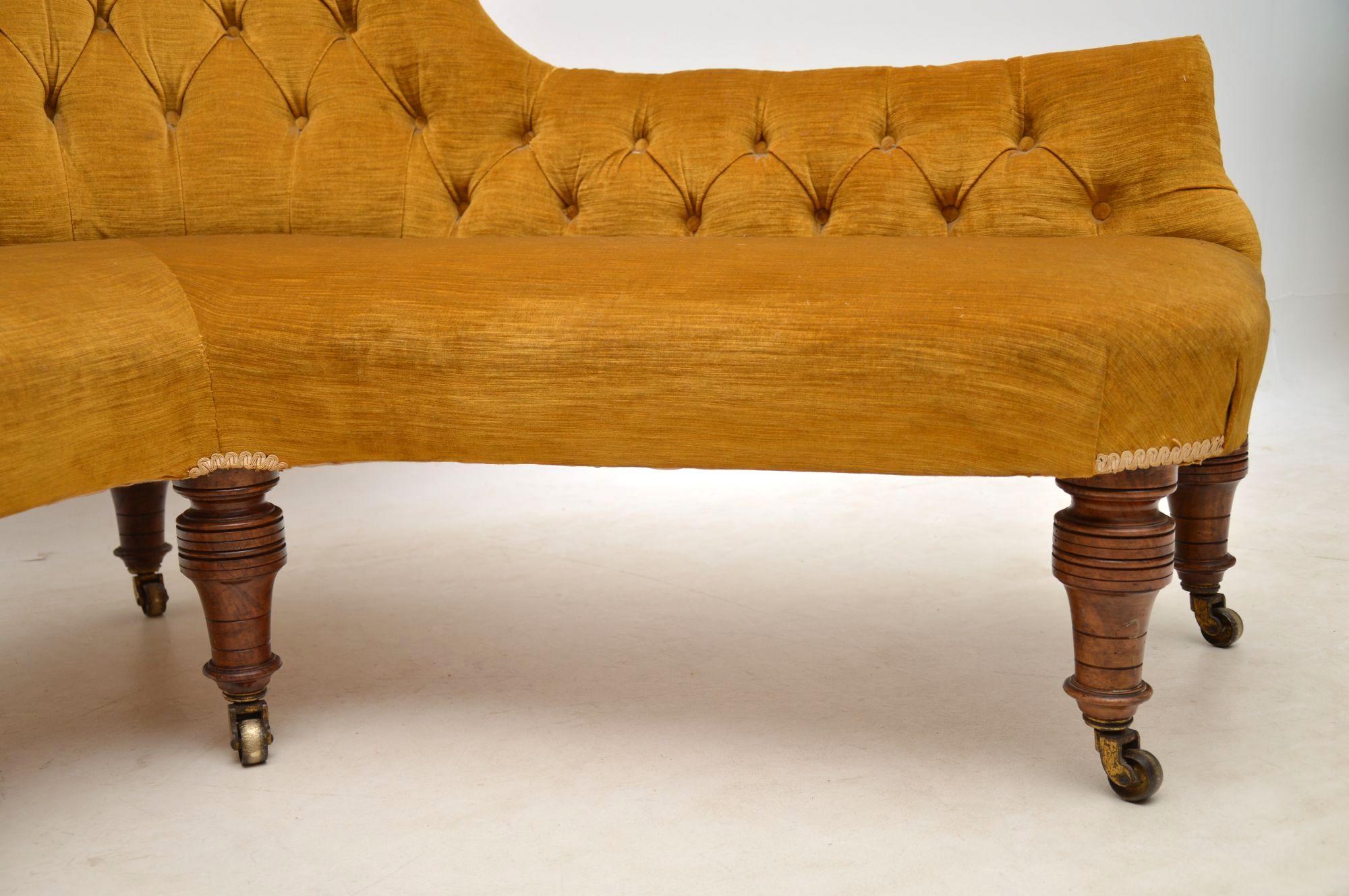 Antique Victorian Corner Sofa Chaise Lounge Interior