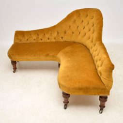 Antique Victorian Corner Sofa Chaise Lounge