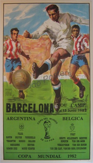 Barcelona World Cup 1982 Poster