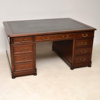 Antique Mahogany Partners Desk