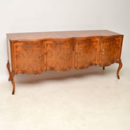 Long Shaped Antique Burr Walnut Sideboard
