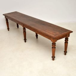 Antique Victorian Rustic Oak Bench