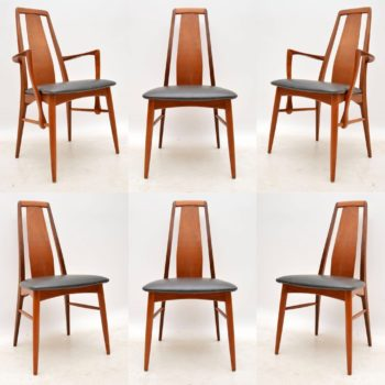 Set of Six Danish Vintage Dining Chairs by Niels Koefoed