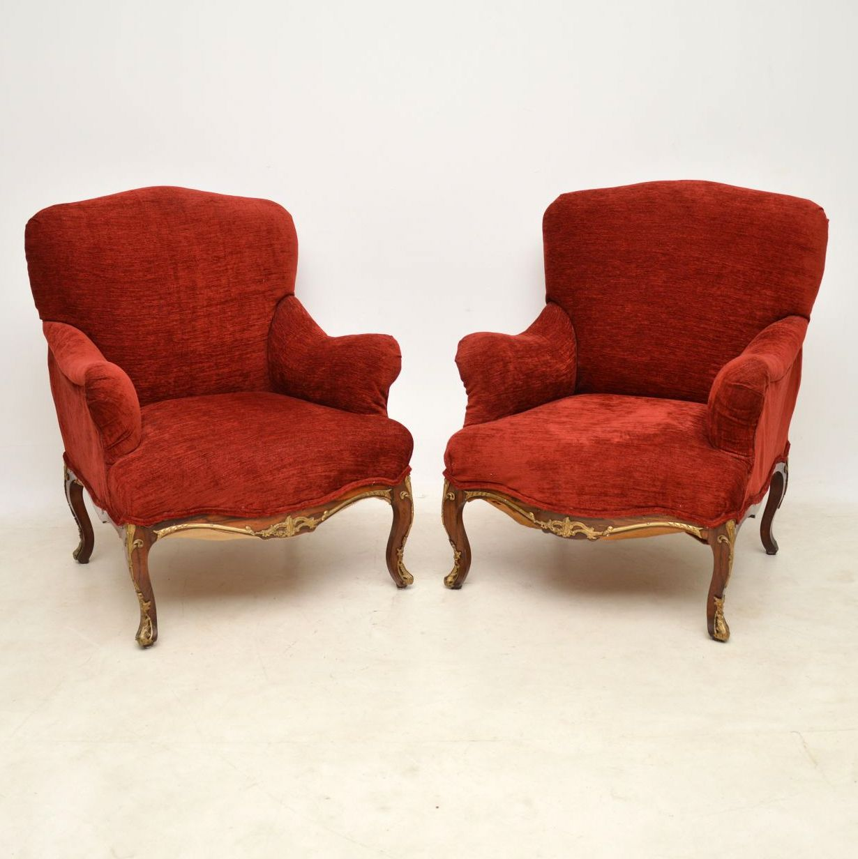 Pair of Antique Rosewood Upholstered Armchairs | Interior ...