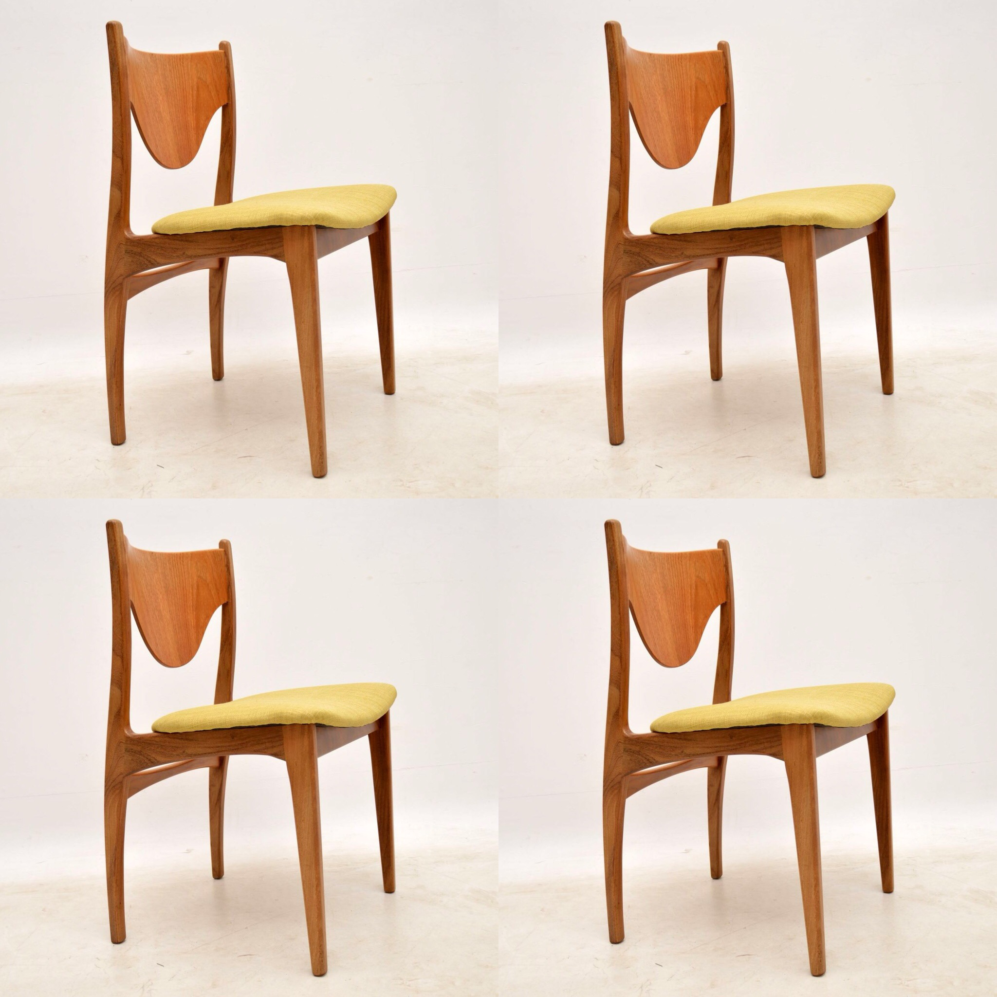 Set of four 1960s teak dining chairs by g plan