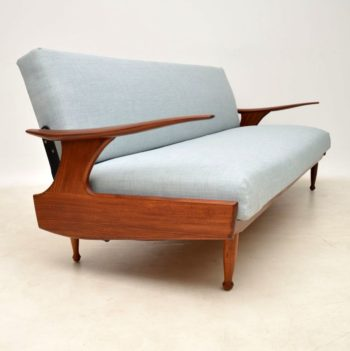 1960's Vintage Afromosia Sofa Bed by Greaves & Thomas