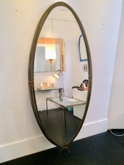 Very large oval mirror
