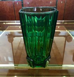 Vase Emerald glass