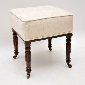 Antique William IV Rosewood Stool