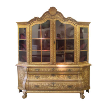 Mid 19th century Dutch display cabinet