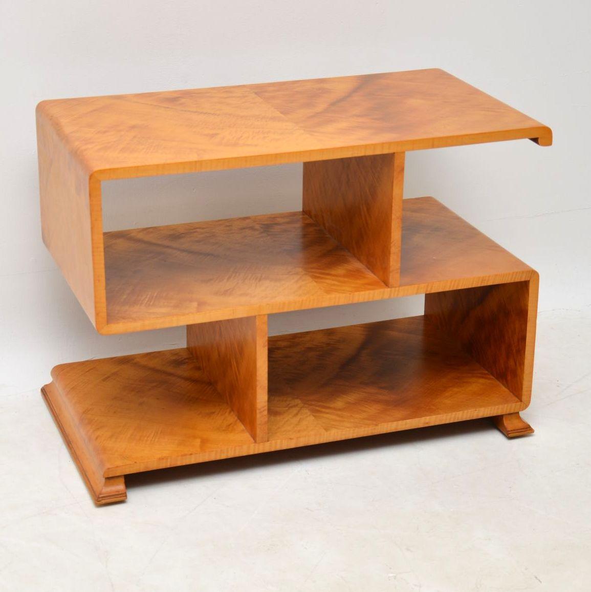 official photos f8689 e58a1 1920's Art Deco Satin Wood Bookcase / Side Table | Interior ...
