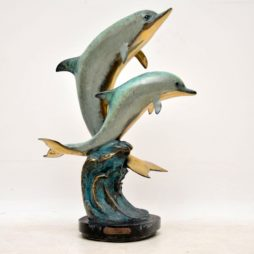 "Limited Edition Bronze Sculpture by W. Aribu – ""Pals 1"" 005/300"