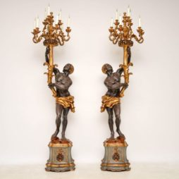 Pair of Antique Venetian Blackamoor Candelabra Sculptures (Copy)