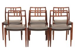 Set of 6 1960s Niels Moller Rosewood Model 79 Dining Chairs