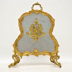 Antique French Gilt Bronze Fire Screen