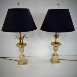 Pair of Palm Lamps