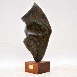 Contemporary British Stone Sculpture by Mo Gardner – 'Warrior' – 1994