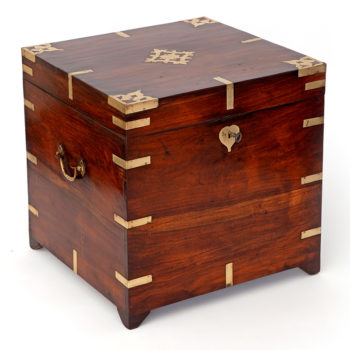 Brass Mounted Anglo Indian Walnut Chest