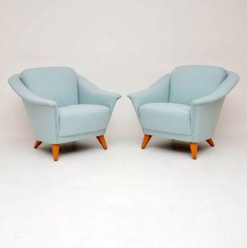 1960's Pair of Vintage Swedish Armchairs