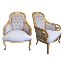 Early 20th century pair of armchairs