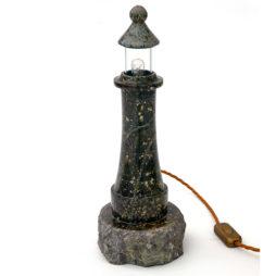 Cornish Serpentine Lighthouse Lamp