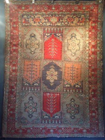 """Rare Tribal Persian """"Bakhtiar"""" Garden Design Rug"""