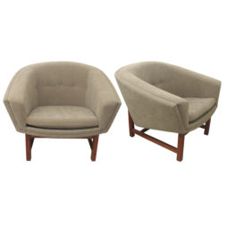 Pair of armchairs by Lennart Bender, Swedish 1960's