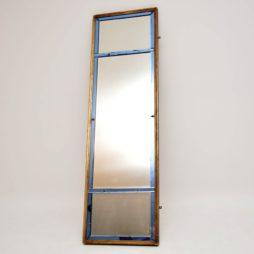 Antique Venetian Gilt Wood Coloured Glass Mirror
