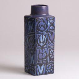 1970s Nils Thorsson Royal Copenhagen Blue BACA Vase