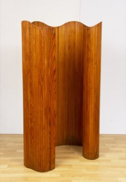 1940s Jomain Baumann Pine Lamels Floor Screen