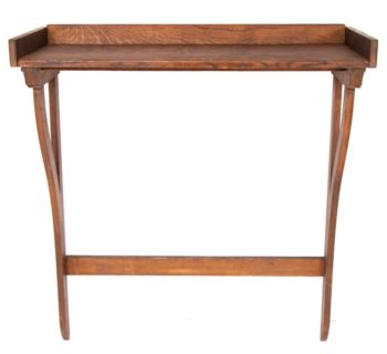 Pair of Vintage British Library Wooden Wall Hung Consoles
