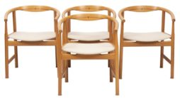 Set of 4 Hans J. Wegner JH 203 Oak & Wenge Armchair