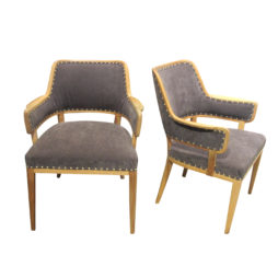 Pair of Carl Malmsten occasional chairs, Swedish, mid century