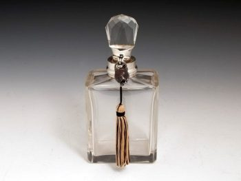 Art Deco Sterling Silver Glass Decanter