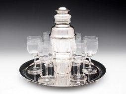 Art Deco silver plated cocktail set