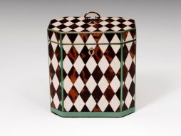 Extremely Rare Harlequin Tea Caddy