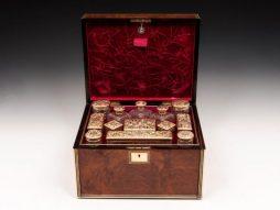 Amboyna Silver Gilt Dressing Box - POA