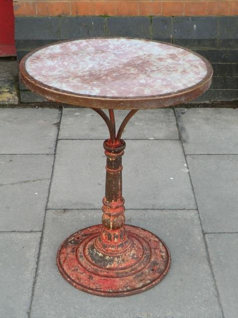 Beautiful Red Pink Caf 233 Table From Paris Brasserie